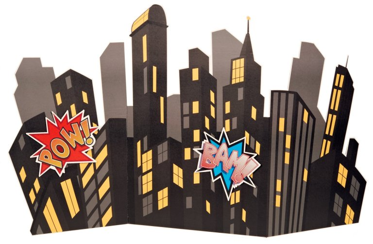 superhero skyline